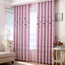 Kids Cartoon Fish Pink Curtains Window Curtains Princess Baby Room Blackout Curtain for Living Room Bedroom Children Room(China)