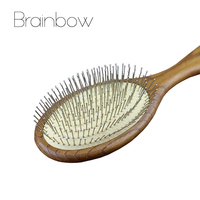 1pc Anti Static Wood Massager Hair Brus Hair Styling Salon Natural Wooden Paddle Airbag Cushion Handle