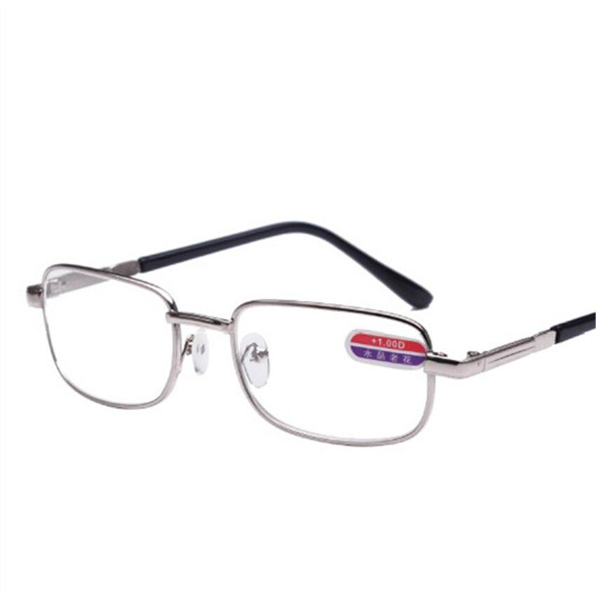 Liga Das Mulheres Dos Homens do Metal Óculos de Leitura Óptica de Vidro Rodada Armações de Óculos Para Presbiopia + 1.0 + 1.5 + 2.0 + 2.5 + 3.0 + 3.5 + 4.