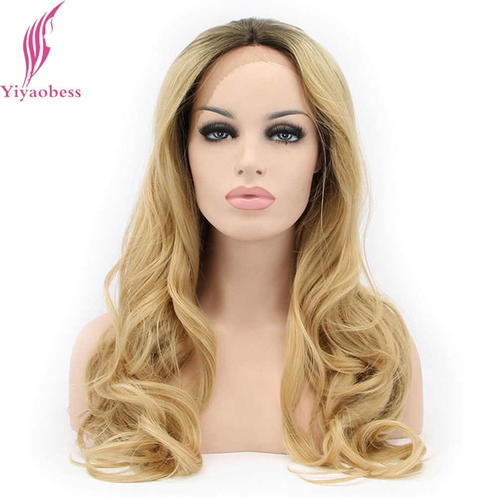 Yiyaobess Glueless Lace Front Wigs For Black Women Heat Resistant Synthetic Loose Wave Dark Roots Blonde Ombre Wig Hairstyles