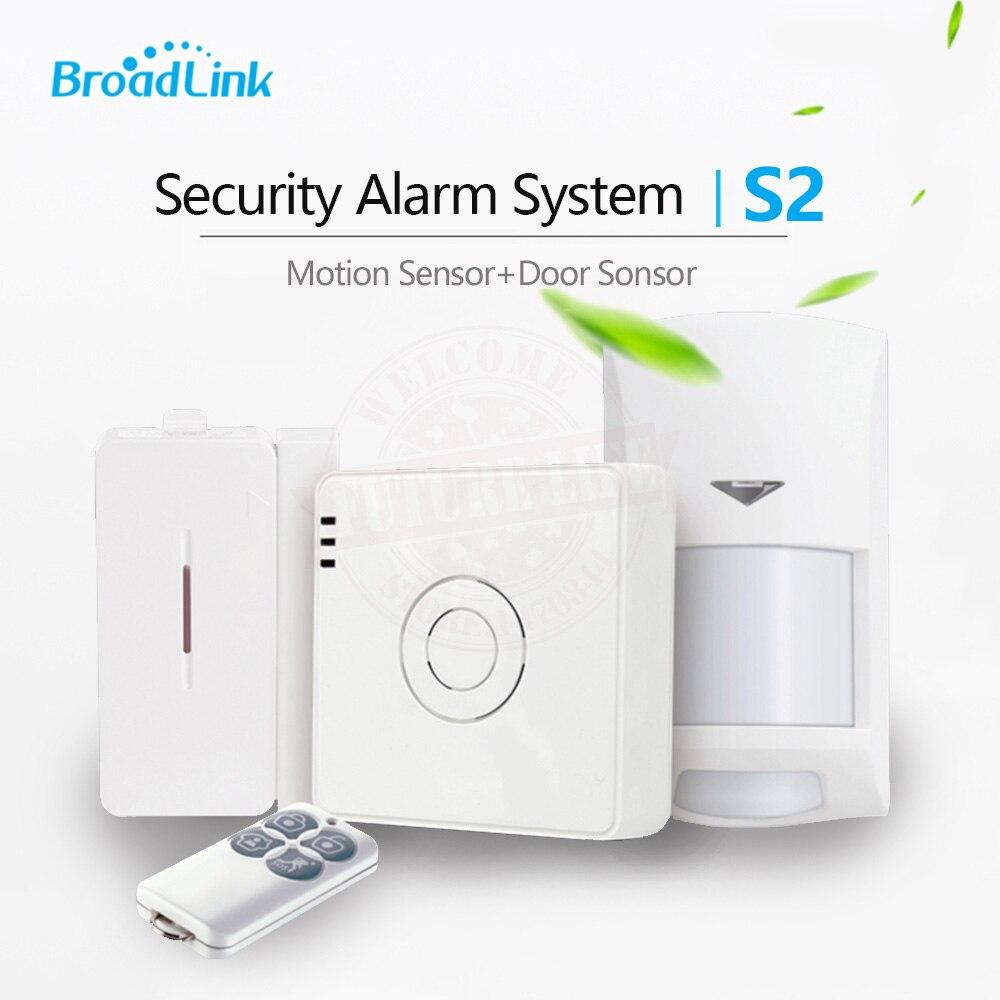 Broadlink S2 комплект сигнализации движения PIR/двери Сенсор Умный дом охранной сигнализ ...