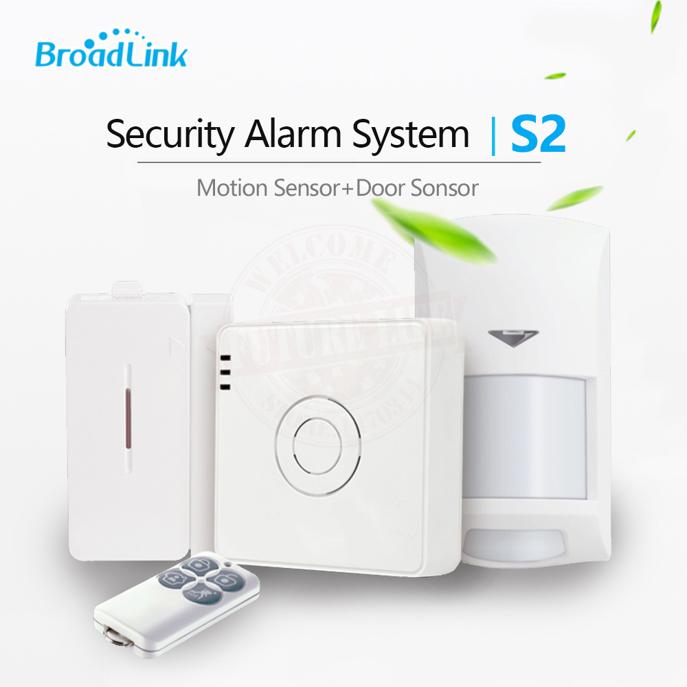 Broadlink S2 Alarm Kit PIR Motion/Door Sensor Smart Home Alarm Security Home Alarm System Wifi Remote Control by IOS Android