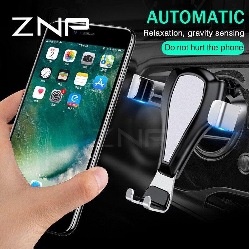 ZNP Handy Autohalterung Für iPhone X 8 Samsung S9 S8 auto Air Vent Halterung Handyhalter Ständer Soporte Movil Unterstützung Cellular