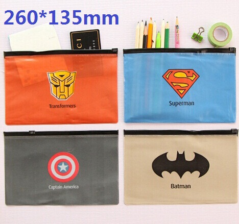 Hot sale sweet design good quality wholesale Super Hero series Waterproof File bagclean  ...
