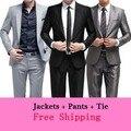 ( Casacos + calça + ) homens moda men Bridegroon negócio vestido de noiva terno mais recentes modelos casaco calça do noivo slim fit MXH0020