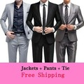(Jackets+Pants+Tie)  mens Fashion Bridegroon Business Dress wedding dress suit latest coat pant designs groom slim fit MXH0020
