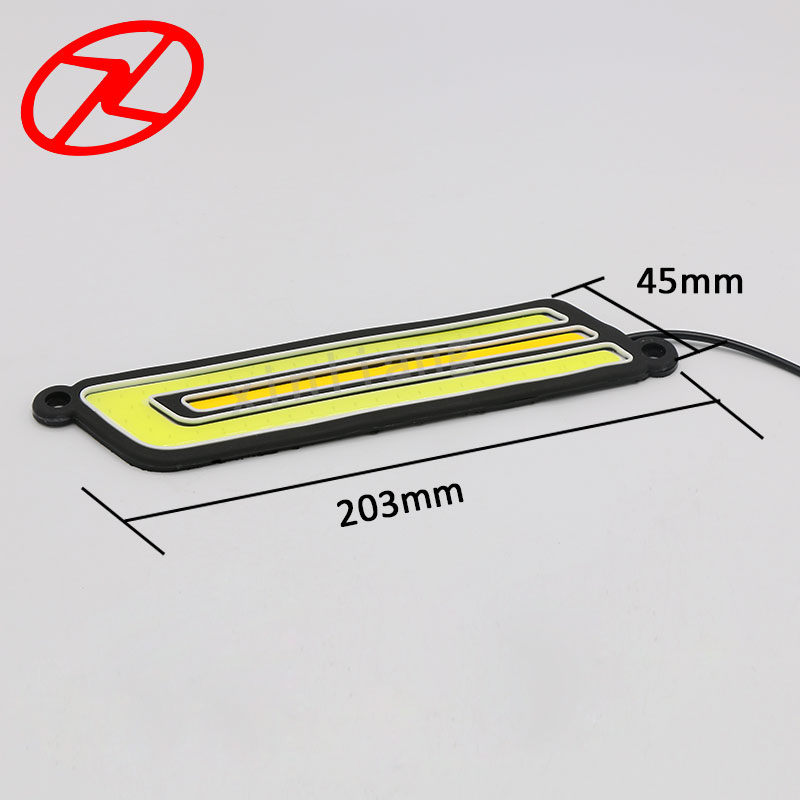2PCS 12v  Flexible Cars Daytime Running Light Waterproof COB Auto Day Light Driving White DRL Yellow Turning Signal free shipping 60cm flexible daytime running light 4 colors available white yellow blue red day driving switchback drl