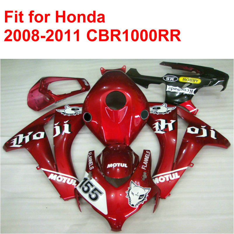 100% fit for HONDA injection mold CBR1000RR fairings 2008 2009 2010 2011 red white black fairing kit CBR 1000 RR 08-11 RT10 for bmw s1000rr fairing s1000 rr s 1000rr s1000 rr 2010 2013 red and white injection mold bodywork fairings kit