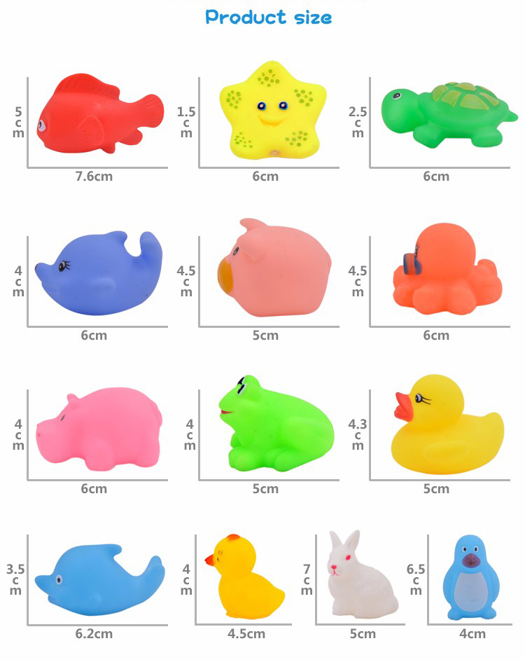 Water Animal Soft Floating Rubber Toys