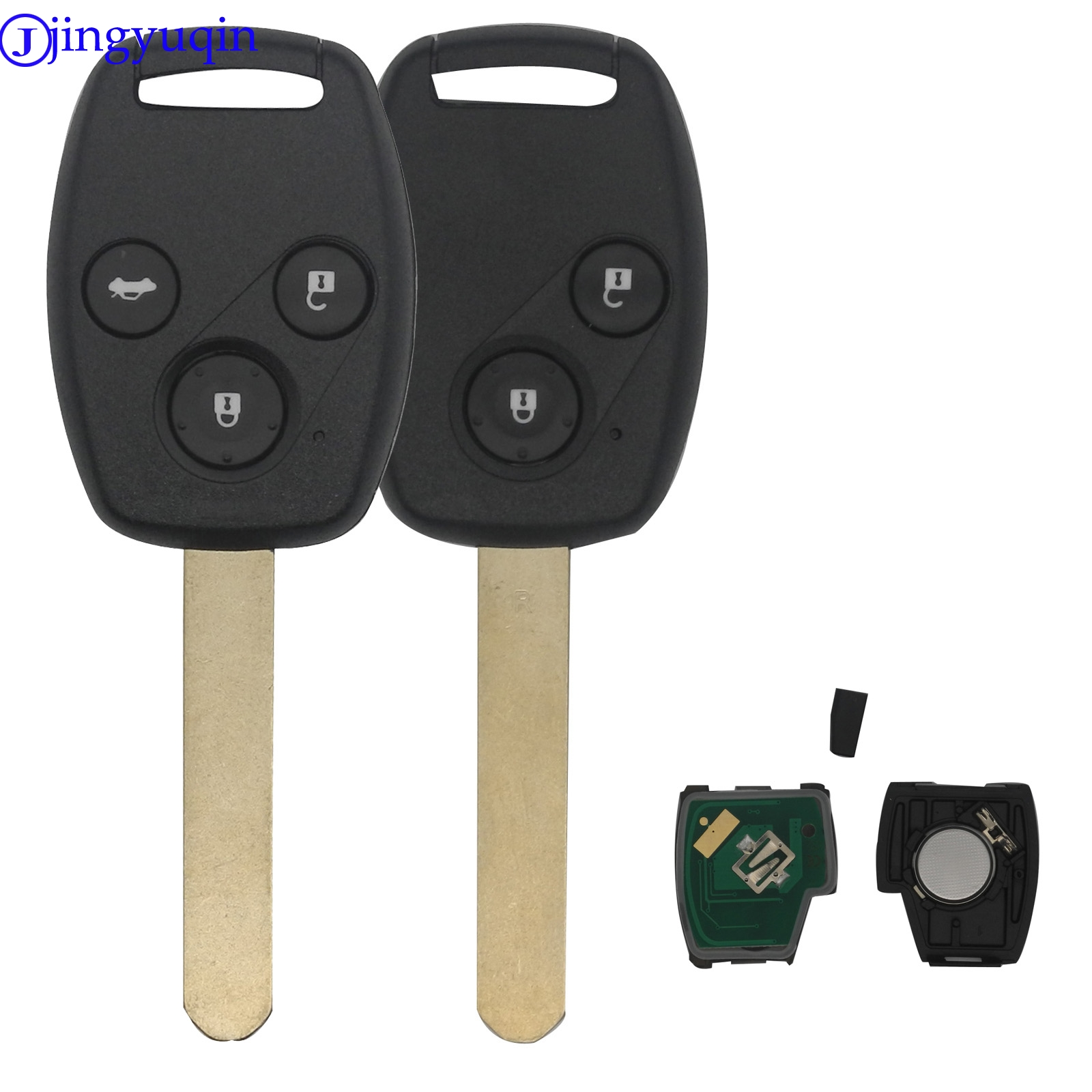 jingyuqin cut blade FSK 433MHZ With ID46 Chip 2/3 Buttons Remote Car Key Fob For Honda Cr-V Civic Insight Ridgeline Accordjingyuqin cut blade FSK 433MHZ With ID46 Chip 2/3 Buttons Remote Car Key Fob For Honda Cr-V Civic Insight Ridgeline Accord