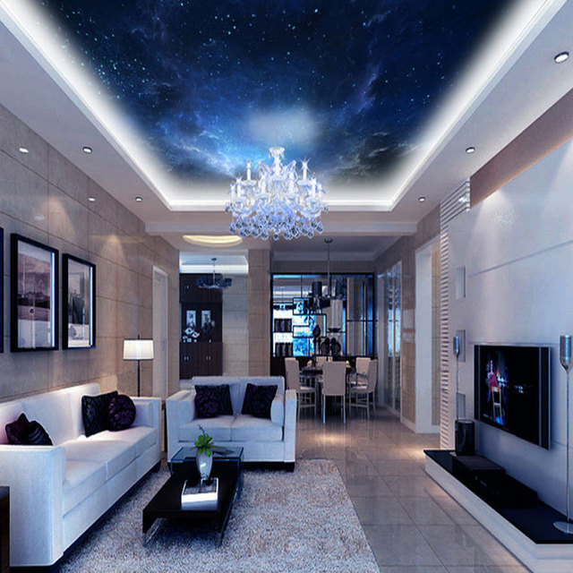 Sky Ceiling Home Decor Mural Living Room Bedroom Wall Papers 3d Modern Sky Photo Wallpaper