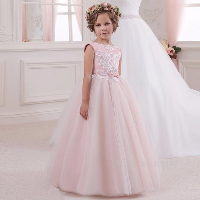 7597b0c44 2016 Vestidos de Niña Vestidos de Primera Comunión Communie Jurk Meisje Niños  Vestidos de Bola Vestido