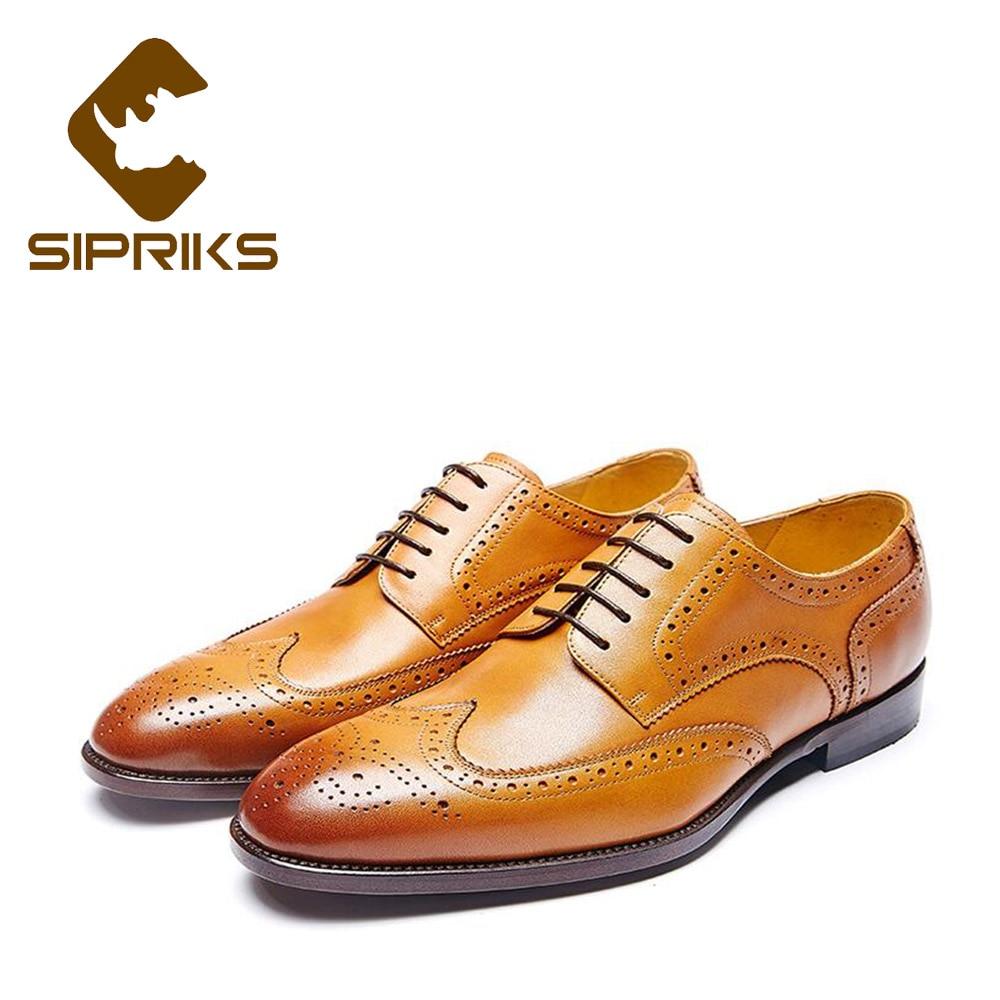 Completo Trabajo Plana S89501 s89501 Brogue Cuero Sipriks Tallado Oficina Hombres Italianos Zapatos Goodyear Mano Welted Para A A s89501 Hechos De Patina s89501 Genuino 11ZnTUAWp