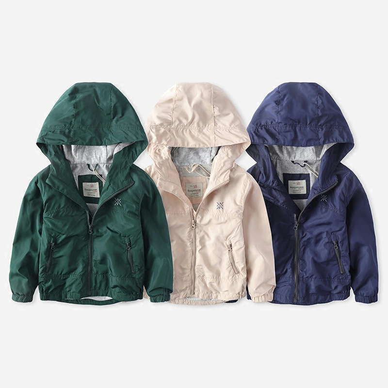 baby boy clothes  big boy hoody rain coat 2018 new spring autumn Childrens Boys Windbreaker jacket