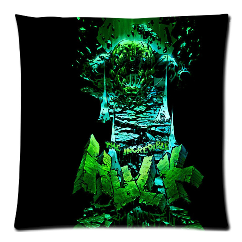 45 45cm Personalized The Incredible Hulk Two Side Polyester Peach Skin Cushion Cover Throw Pillow Case Free Shipping In From Home Garden On