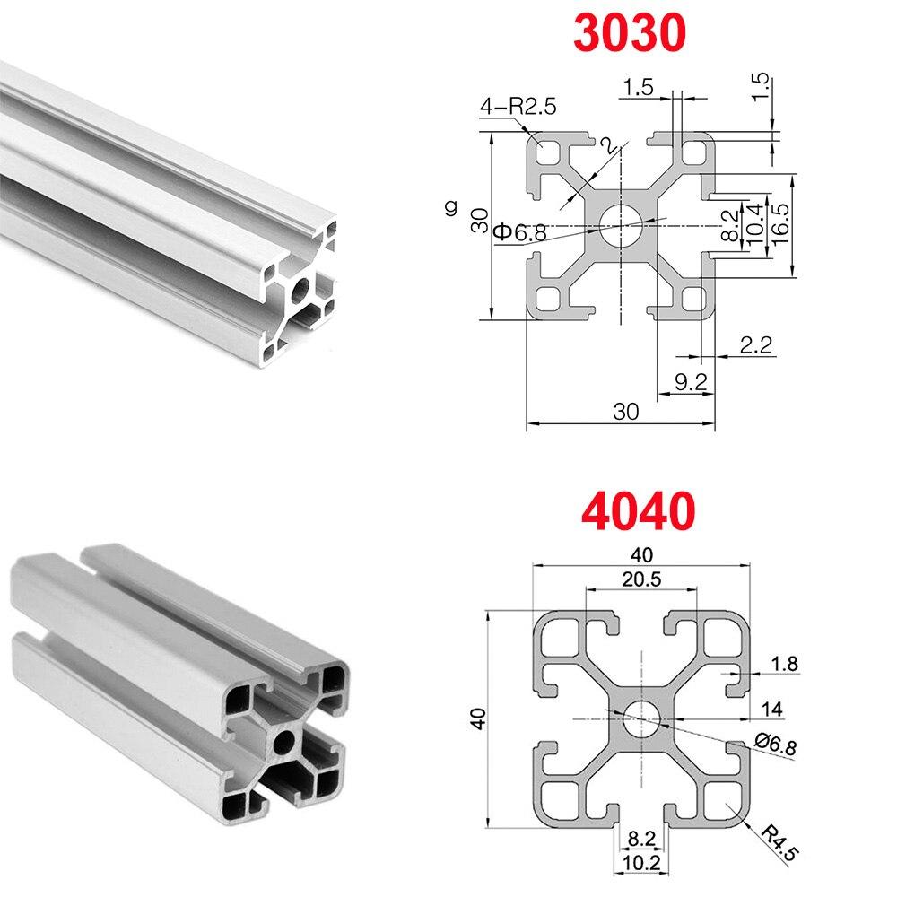 2000 mm Aluminium Extrusion Profile 4040 T-Slot 8 mm