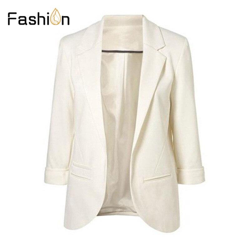 11 Farben 2019 Frühling Slim Fit Frauen Blazer Formal Jacken Büro Dame Arbeit Vorne Offen Kerb Ol Damen Blazer Mantel Plus Größe