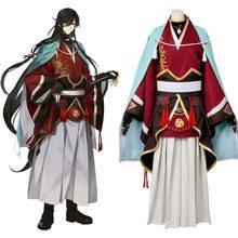 Косплэй Touken Ranbu онлайн izuminokami kanesada Косплэй костюм полный  Наборы для ухода за кожей Самурай Кимоно костюмы на Хэлло.. 87d67d38ff083