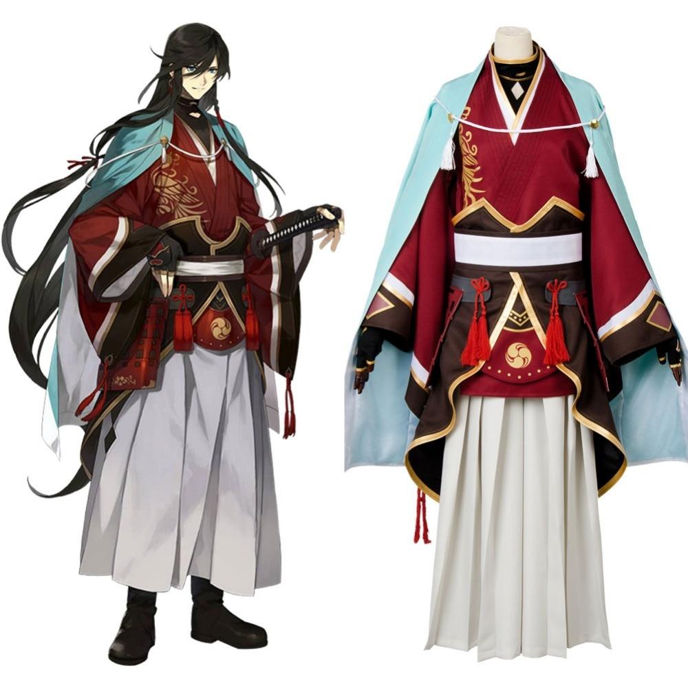 cosplay Touken Ranbu Online Izuminokami Kanesada Cosplay Costume Full Sets Samurai Kimono Costumes Halloween Carnival costume