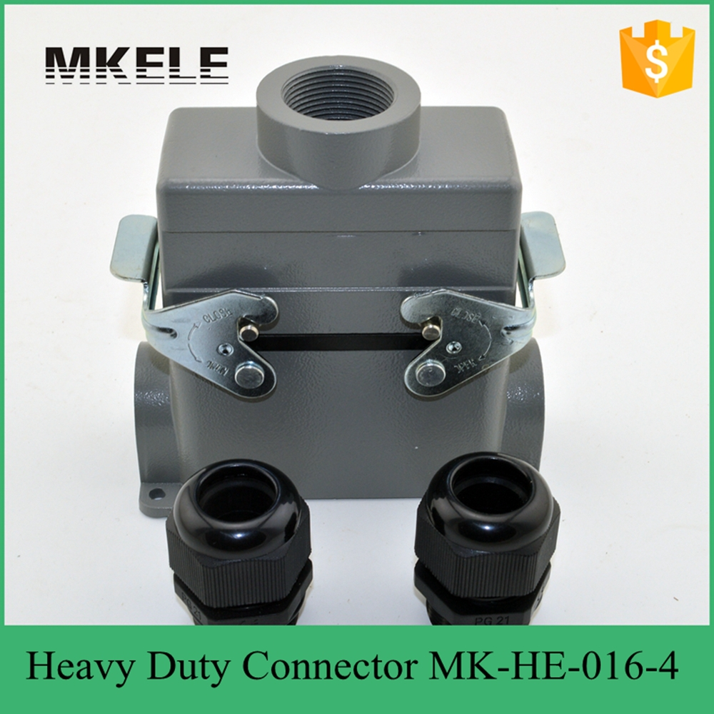 MK-HE-016-4 plastic screw industrial heavy duty 400 volt wire connector,Harting heavy duty connector heavy duty connectors hdc he 024 1 f m 24pin industrial rectangular aviation connector plug 16a 500v