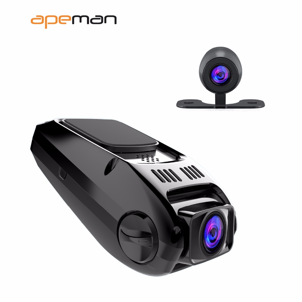 Apeman Full hd 1080p Dash Cam dvr C550 Auto Car Drive Video Recorder Camera With Dual  Lens Camcorder Novatek NTK96655 junsun car dvr dash cam camera wifi wireless app novatek 96655 sony imx322 full hd 1080p video recorder for peugeot 308 2015