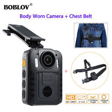 BOBLOV Body Camera Police WN9 HD 1296P NT96650 IR Night Vision Security Guard Pocket Mini Camcorders Video Recorder&Belt Strap