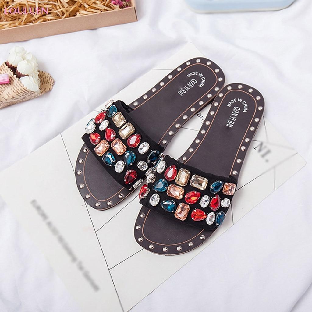 2019 Slipper Women Fashion Gem Crystal