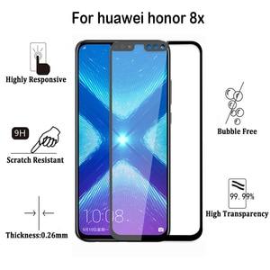 Image 2 - Honor 8 Lite Glass Huawei P8 lite 2017 Tempered Glass Huawei Honor 8x 8 lite Screen Protector Full Cover Film P Smart Plus 10 X