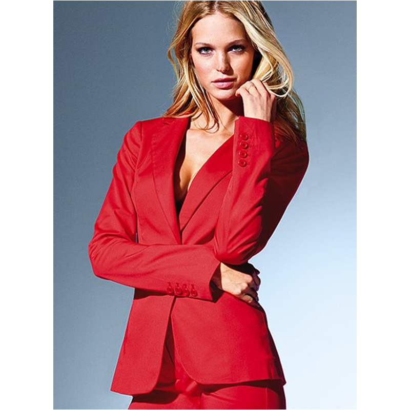 font b Women b font Business suits formal office suitsCustom made Red OL Long Sleeve