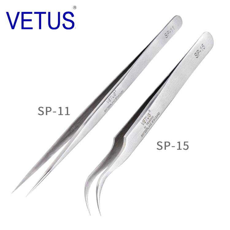 VETUS 1Piece SP-11 SP-15 Anti-static Stainless Steel Tweezers Set For Electronic Cell Phone Repair Tools KitVETUS 1Piece SP-11 SP-15 Anti-static Stainless Steel Tweezers Set For Electronic Cell Phone Repair Tools Kit