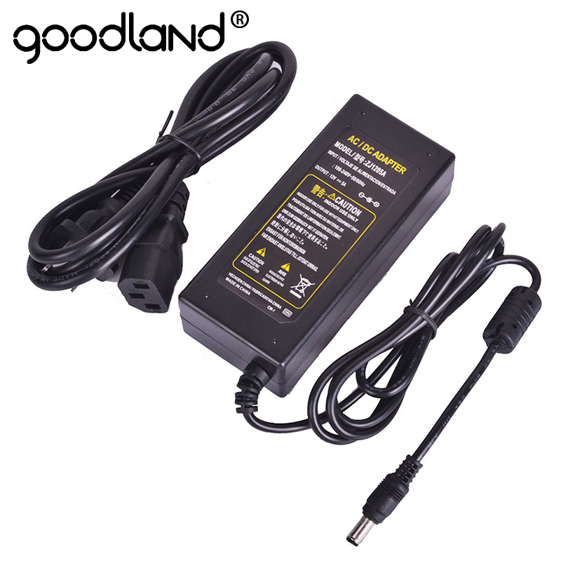Goodland <font><b>12V</b></font> <font><b>Power</b></font> <font><b>Supply</b></font> DC12V <font><b>Power</b></font> Adapter Transformer AC <font><b>110V</b></font> 220V to 12 Volt Converter 3A 5A 6A 8A 10A for LED Strip 12 V image