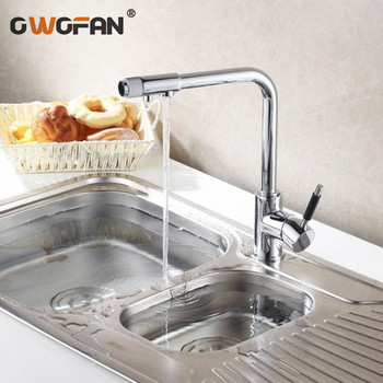 Classic Kitchen Faucets Deck Mounted Sink Taps Single Handle with Water Purification Features Rotatable Mixer Water Tap N22-004 gappo kitchen faucets pull out kitchen single handle rotatable sink faucets water mixer water sink mixer tap robinet cuisine