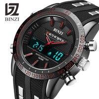 New BINZI Brand Watch Mens Date Day LED Display Luxury Sport Watches Digital Military Men S