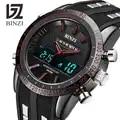BINZI роскошные часы мужские спортивные часы для мужчин светодиодные цифровые водонепроницаемые часы военные мужские кварцевые наручные час...