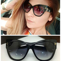 Cubojue Cat Eye Sunglasses Women 2019 Brand Glasses Woman Oversized Thick Frame Black Tortoise Sunglass Ladies High Quality