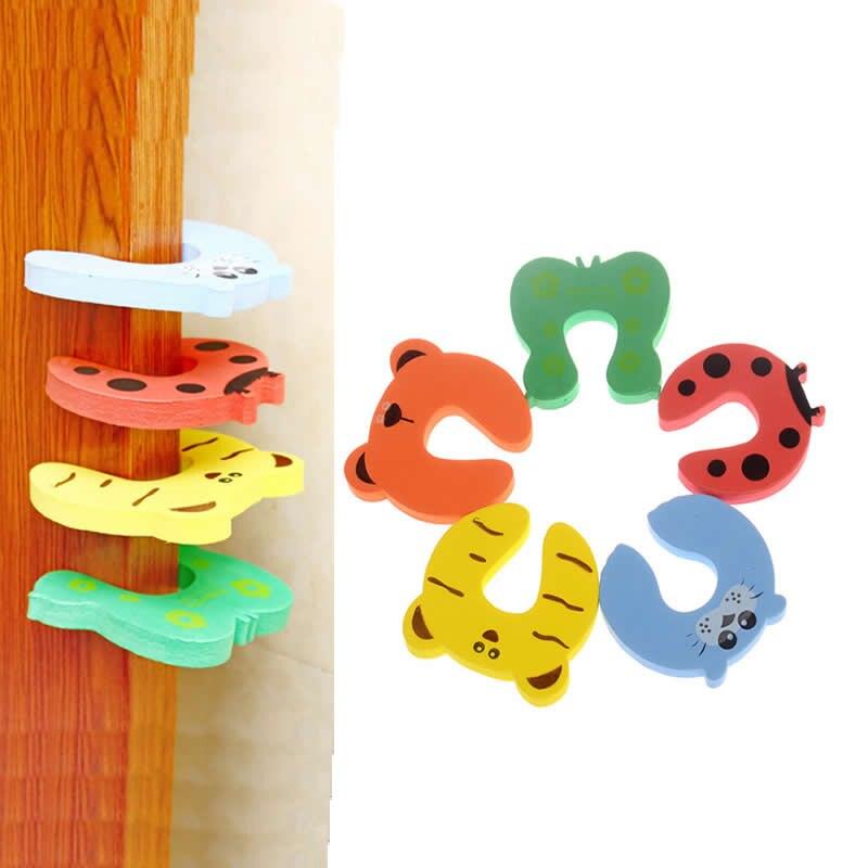 5PCS Cartoon Child Security Door Card File Environmental Protection Materials font b Baby b font door
