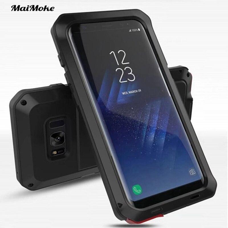 imágenes para MaiMoke Para Samsung galaxy Caso S8 Metal Armor Para Samsung galaxy Cajas Del Teléfono S8 Más Aleación De Caso 360 Protección para Trabajo Pesado