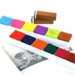 DIY на масляной основе многоцветные чернила для рисования Скрапбукинг смешанные 6 цветов губка Чернила колодки Набор