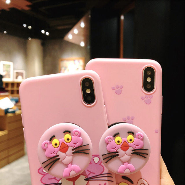 DFQNGL Silicone Case For iPhone 8 7Plus 6 6Plus Case Soft TPU Cover Leaves Bird For iPhone 7 8Plus X soft shell airbag bracket