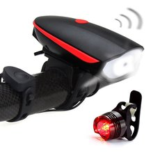 Catazer Fineed Bicycle Light Set with Horn Super Bright Waterproof USB Led Bike Light Rechargeable Headlight and Taillight