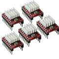 5pcs/lot Reprap Stepper Driver Pololu A4988 Stepper Motor Driver Module with Aluminum Heat Sink for Ramps 1.4 3D Printer