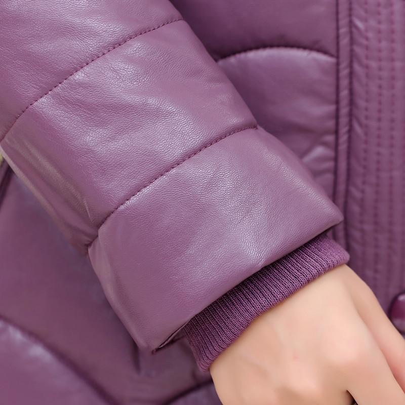 Taille 2 3 Veste Épais Coton Hiver 1 Parkas Plus Cuir Femelle 2017 Moyen 5xl Xl D'âge Femmes Survêtement Manteau Nouveau H633 En 4 La wPz1E6WqBv