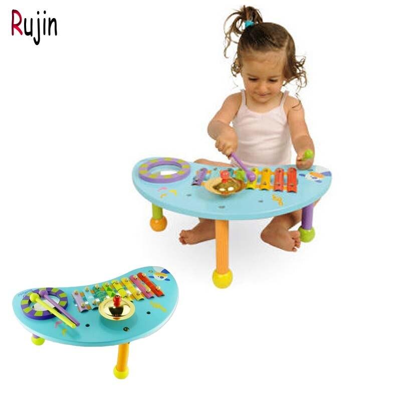 Rujin bébé enfants jouet Instrument de musique en bois autoportant pour enfants enfant infantile jouant Type jouets musicaux cadeau