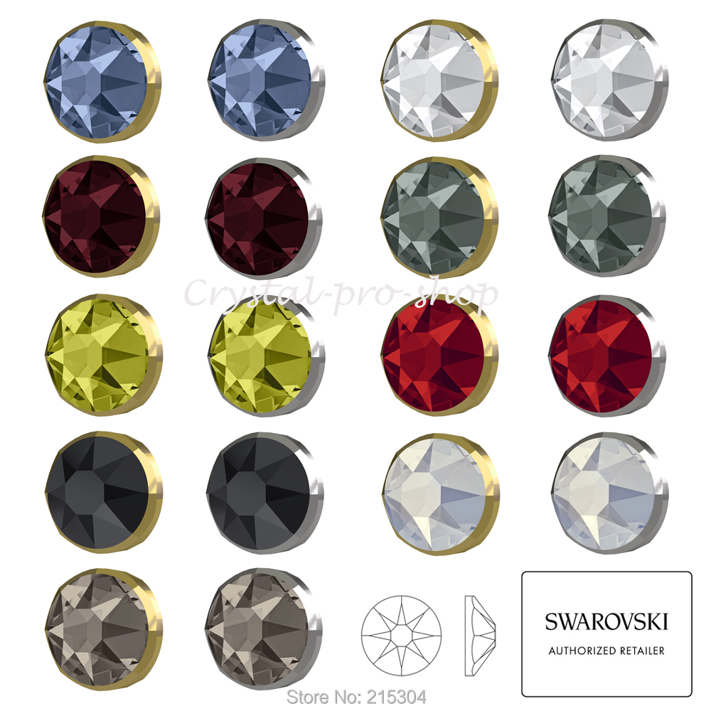 (Pick you Want) Swarovski Elements Rimmed 2088 I ( No Hotfix ) Flat back (  Dorado   Light Chrome ) Crystal Rhinestone-in Rhinestones from Home   Garden  on ... 5860834965e3