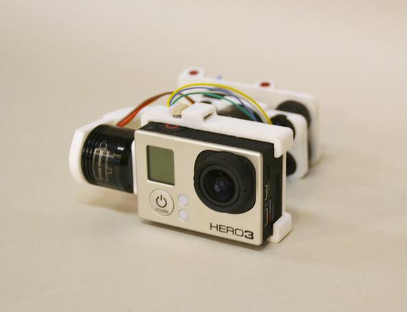 3D impreso Gopro Hero3 Gopro3 2-eje cardán sin escobillas para TBS Oveja Negra descubrimiento Quadcopter