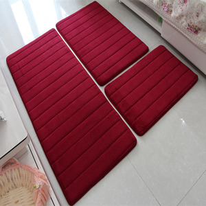 Image 4 - Modern Memory Foam Bathroom Mat Floor Carpets Anti slip Bath Mat Doormat Living Room Kitchen Rugs and Carpet 3pcs/set Foot Mat