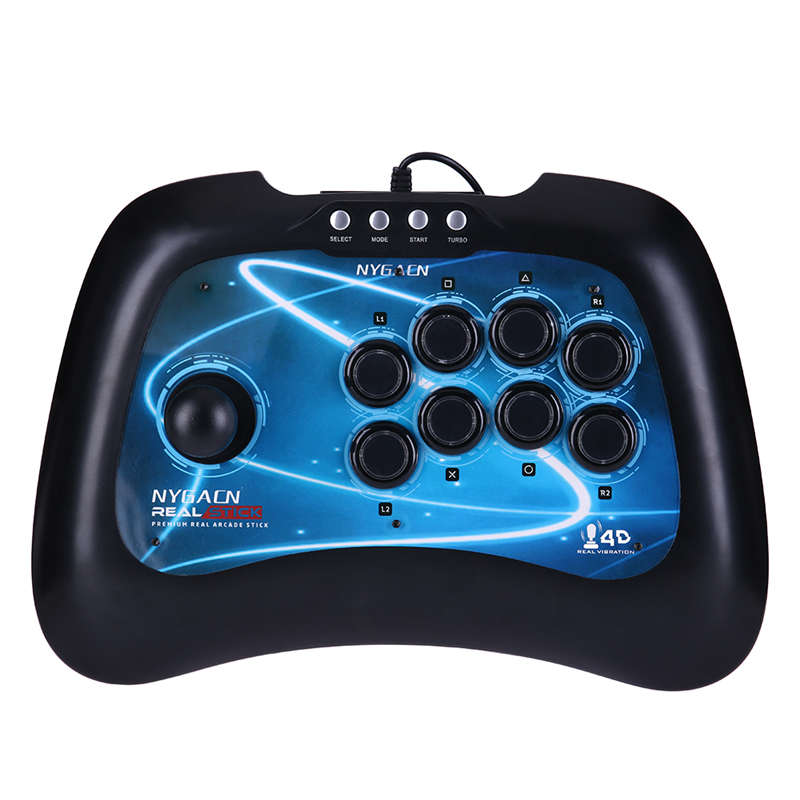 New USB Fighting Stick Arcade Joystick Gamepad Controller for PS3 PC Android Plug And Play Street Game Fighting 1pcs for ps2 to for ps3 pc usb gamepad controller converter cord