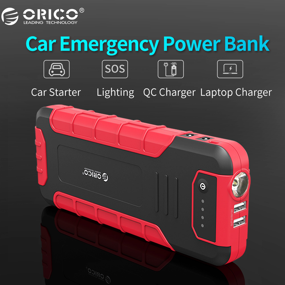 ORICO CS3 18000mAh Car Charger Portable Mini Car Jump Starter Booster Power Bank For Car Laptop