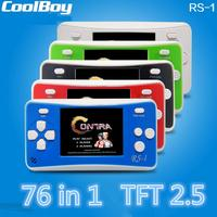 2016 Newest Classic Game Machine RS 1 2 5 Inch LCD 76 Games Inside Portable Handheld