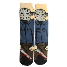 K145 Black Friday Personalized Print Socks Fashion Funny Novelty Cartoon Sock Comfort Happy Stitching Cotton Crew Socks